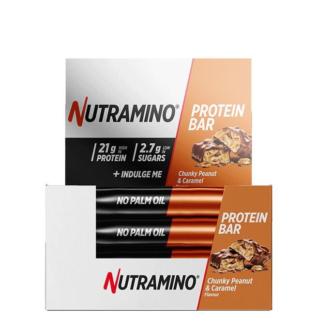12 x Nutramino Proteinbar, 60 g, Chunky Peanut Caramel