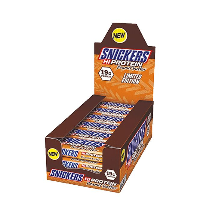 12 x Snickers Protein Bar, 57 g, Peanut Butter