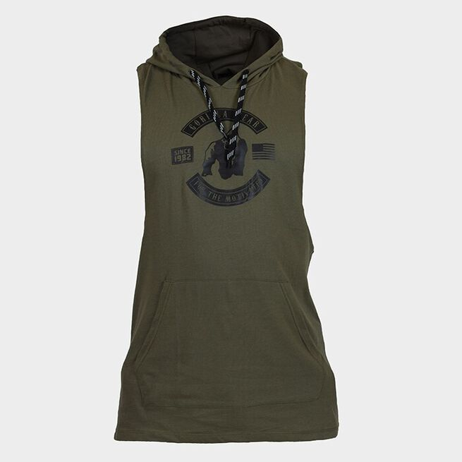 Lawrence Hooded Tank Top, Army, S