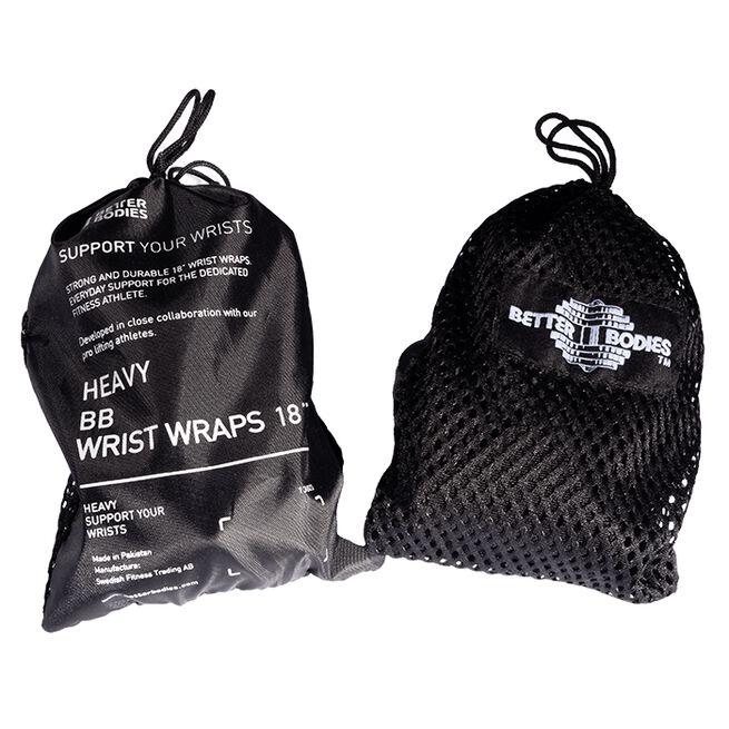 Better Bodies Heavy BB Wrist Wrap 18inch, Black