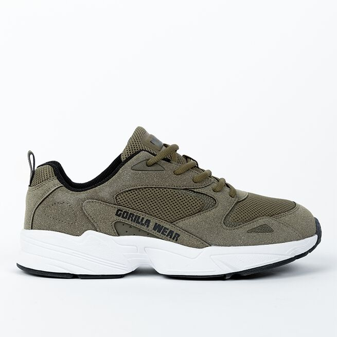 Newport Sneakers, Army Green, 36