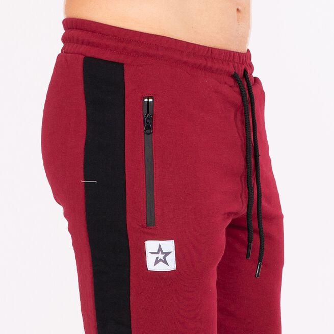 Star Gym Joggers, Maroon/Black