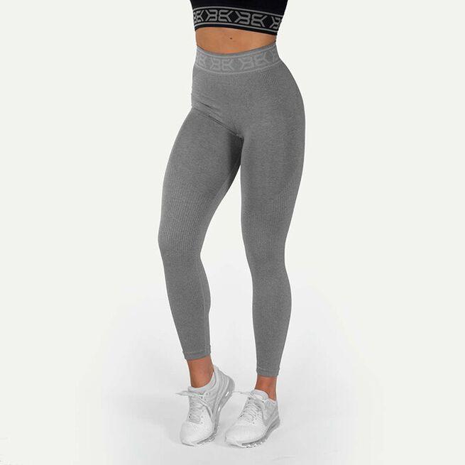 Rib Seamless Legging, Greymelange, M