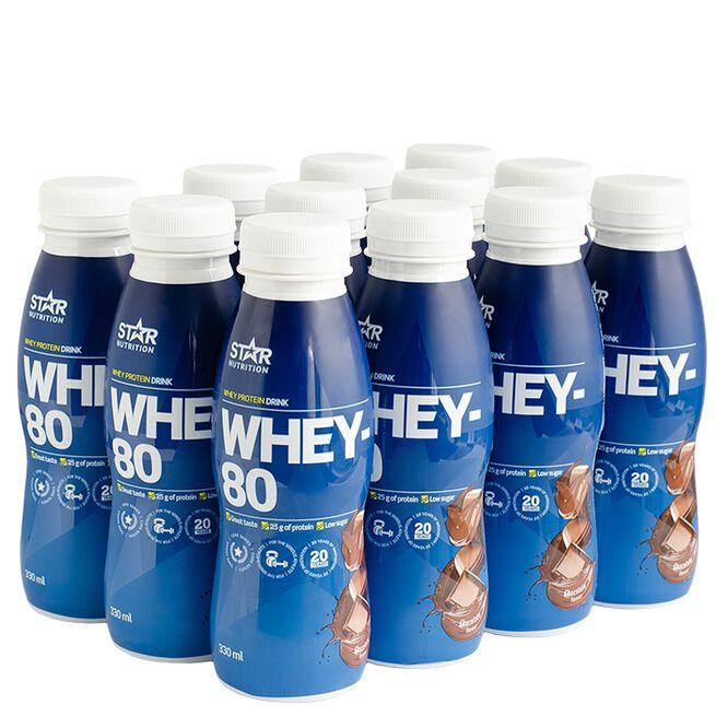 12 x Whey-80, Drink, 330 ml, Chocolate