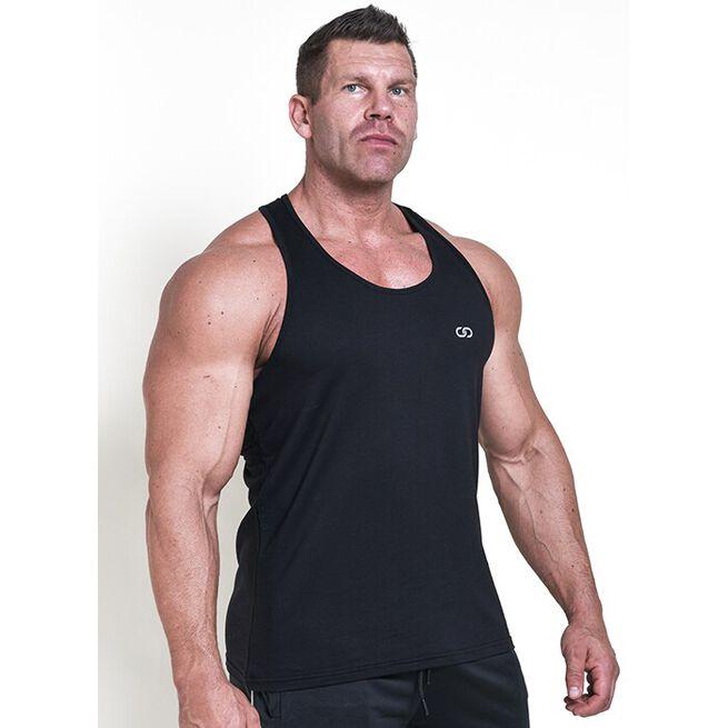 Chained Gym Stringer, Black, L