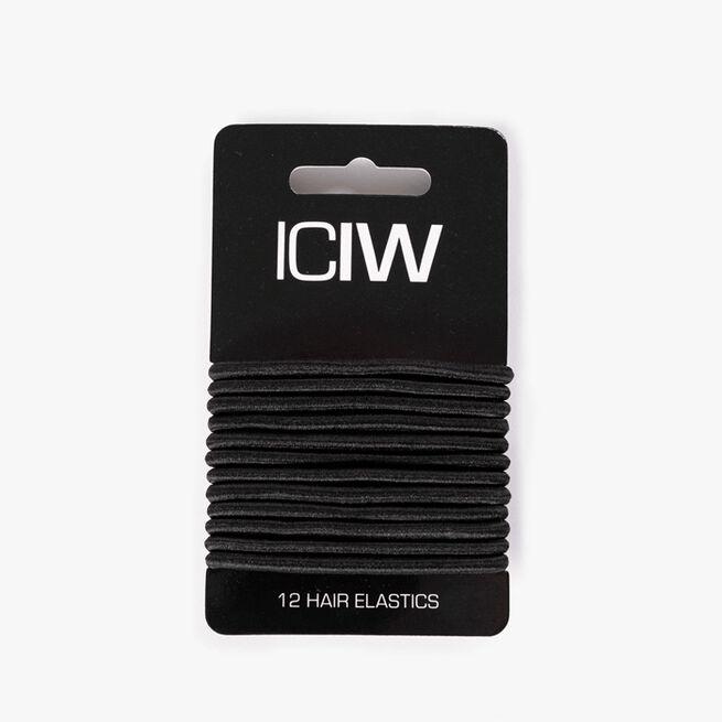 ICIW 12 Pack Sport Hair Ties Black