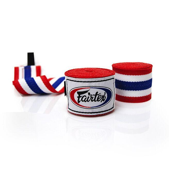 2x Fairtex HW2, Handwraps (1 pair), 4,5 m, Thai Flag