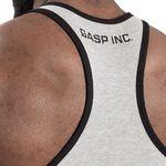 Ribbed T-back, Grey Melange, M