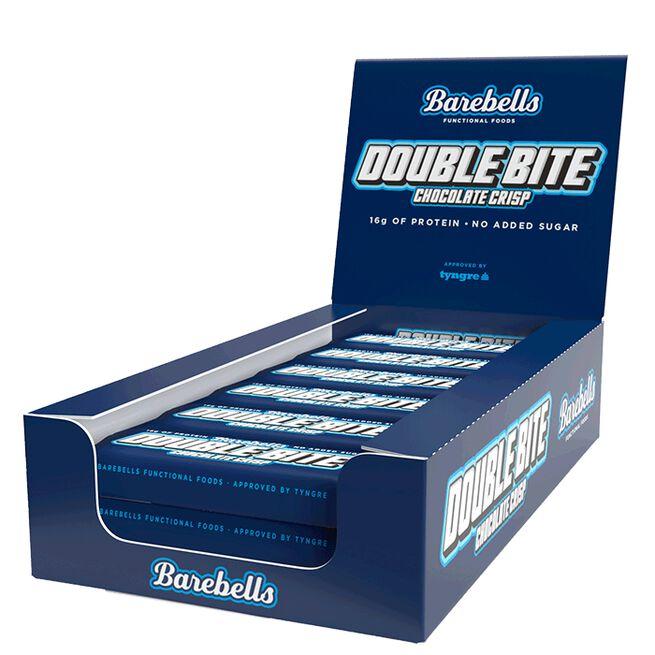 12 x Barebells Double bite Protein Bar, 55 g, Chocolate Crisp
