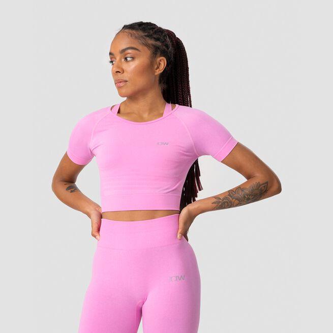 ICANIWILL Define Seamless Cropped T-shirt Pink Melange