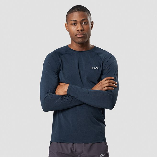 ICANIWILL Workout Melange Long Sleeve, Dark Blue