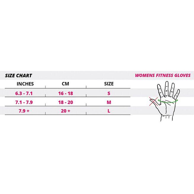 Women´s Fitness Gloves, black/purple - L