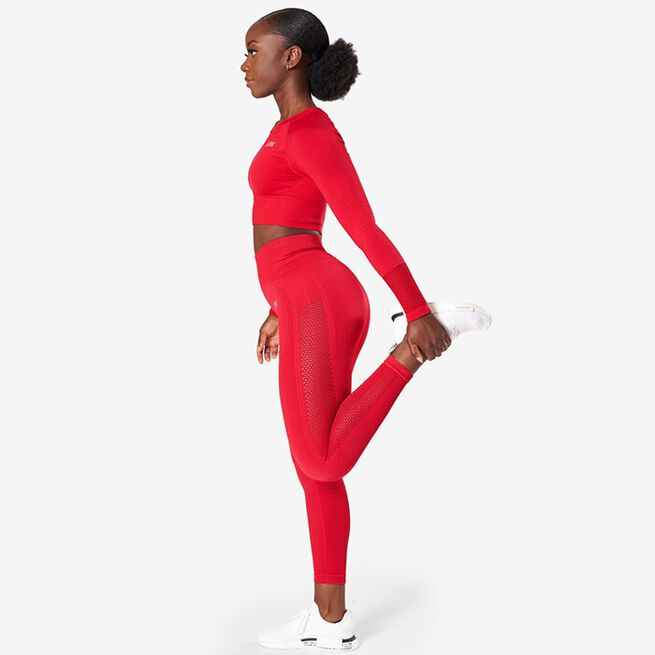 Dynamic Seamless 7/8 Tights, Deep Red, XS
