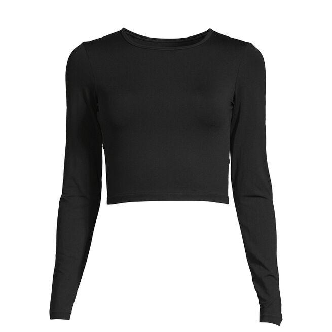 Crop Long Sleeve, Black, 34