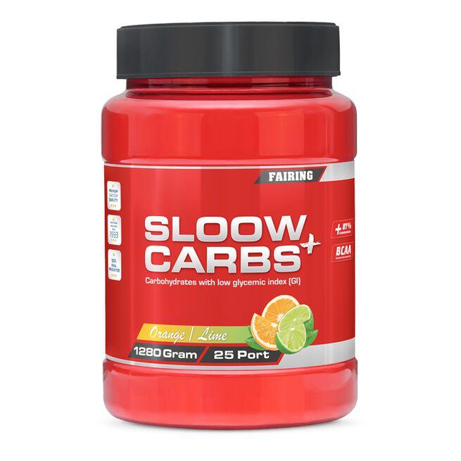 Sloow Carbs +, 1280 g, Orange Lime