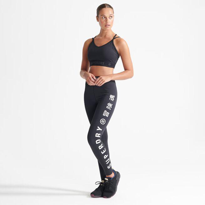 Superdry Training Elastic Legging, Black