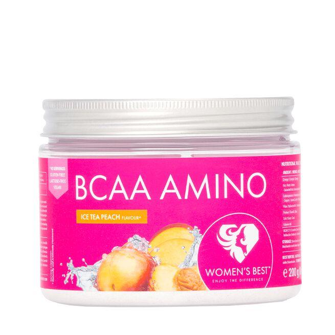BCAA Amino, 200 g, Ice Tea Peach