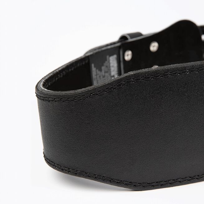 4 Inch Padded Leather Belt, Black/Red