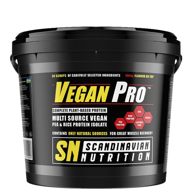 Vegan Protein, 1000 g, Triple Chocolate