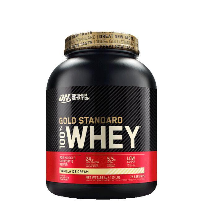 Optimum Nutrition, Gold Standard Whey, 2273 gram, Vanilla Ice Cream