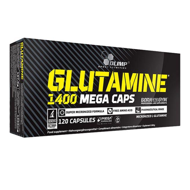 Glutamine Mega Caps 1400, 120 caps