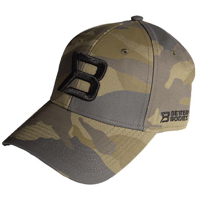 BB Baseball Cap, Green Camoprint