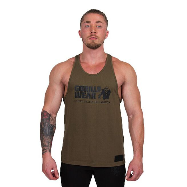 Classic Tank Top, Army Green, S