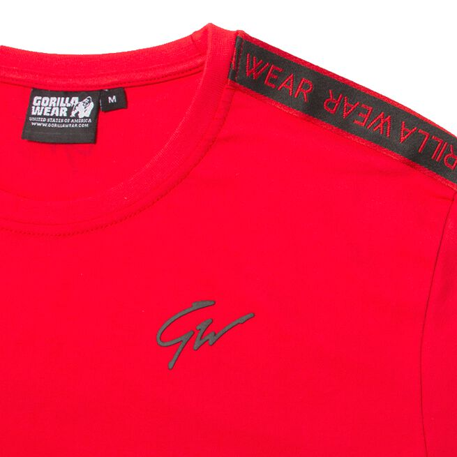 Chester T-Shirt, Red/Black, M