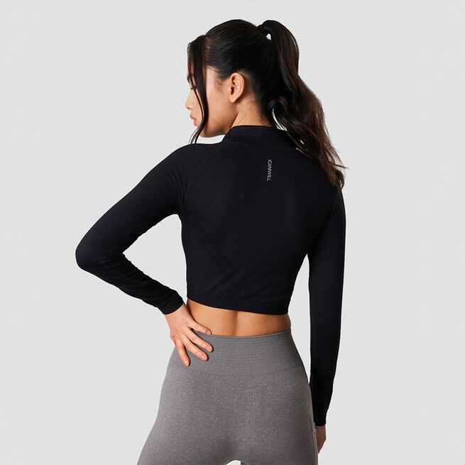 ICANIWILL Define Cropped 1/4 Zip Black