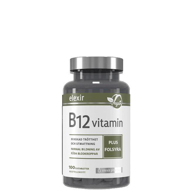 B-12 Vegan, 100 tabletter