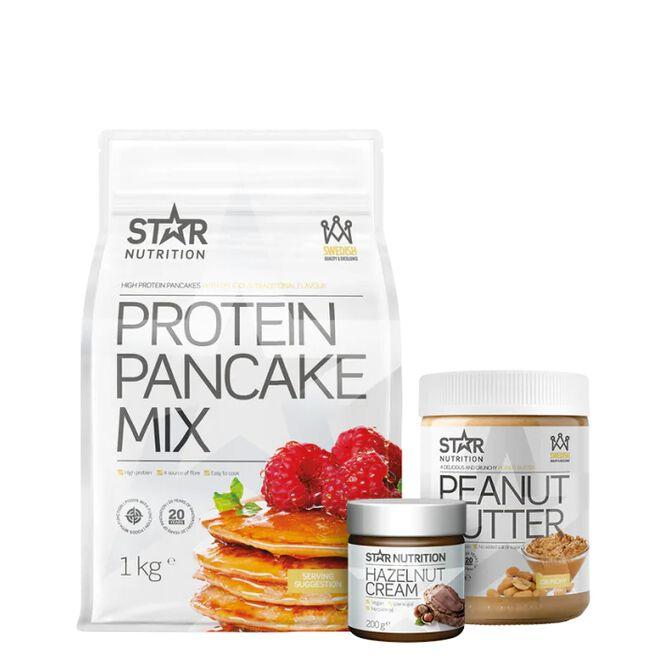 Star nutrition Protein pancakes hazelnut cream peanut butter