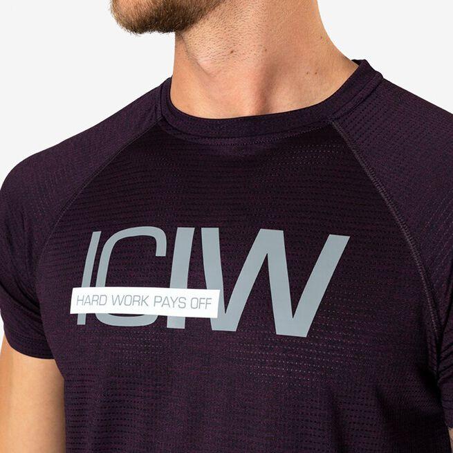 Mesh Training T-shirt, Purple Melange, L