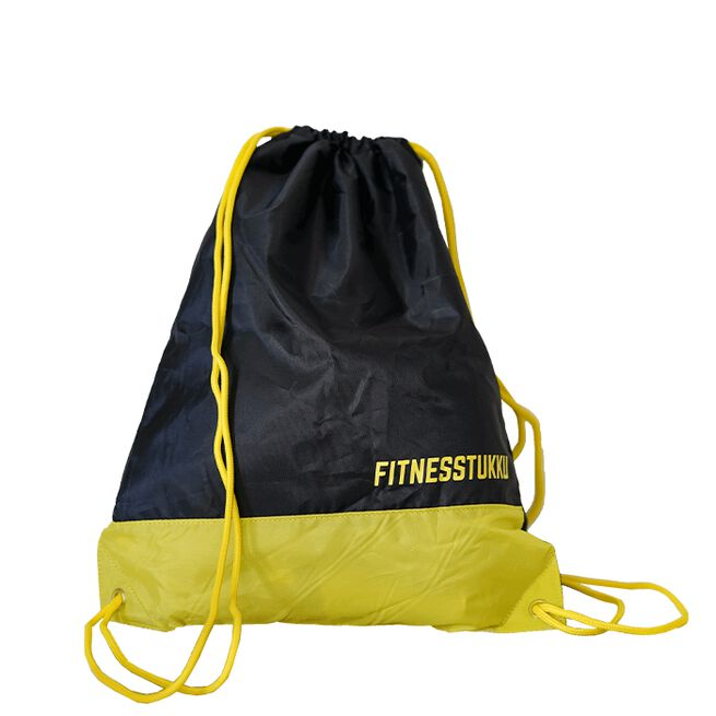 Fitnesstukku Stringbag, Black/Yellow