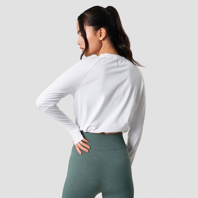 ICANIWILL Define Cropped Adjustabl Long Sleeve White