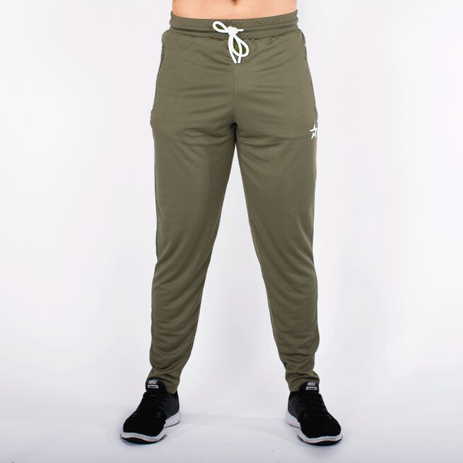 STAR TAPERED MESH PANTS, OLIVE