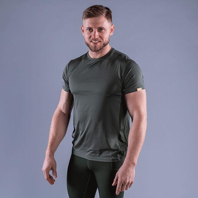 CLN Mist T-shirt, Moss Green, S